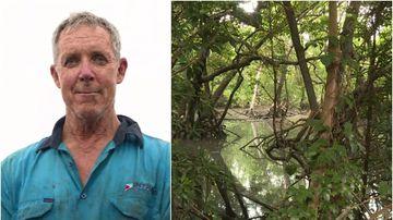Dad survives night in croc creek