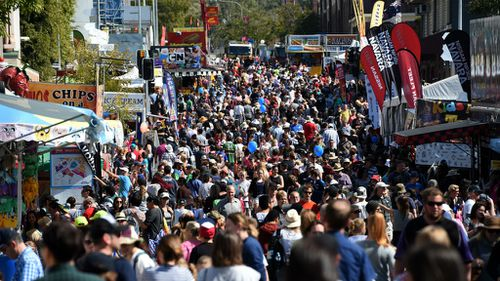 Crowds at the Ekka in Brisbane. (AAP)