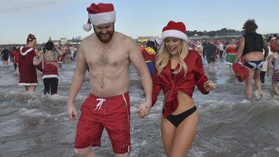 Festive swims in Wales