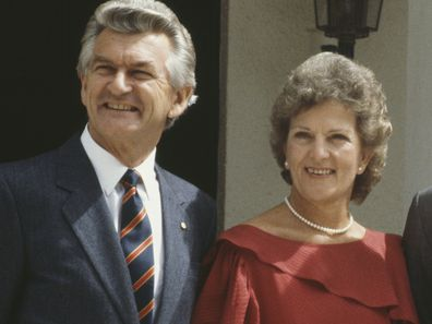 Bob Hawke and Hazel Hawke pictured with Prince Charles and Princess Diana in 1983.