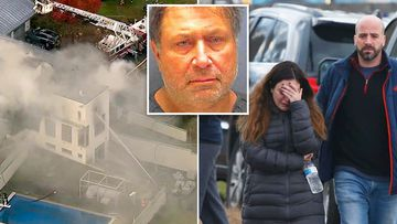 A man has been arrested after his brother's family were found killed and their New Jersey mansion set ablaze.