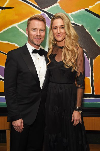 Ronan Keating and wife Storm attends the 9th Annual Global Gift Gala held at The Rosewood Hotel on November 2, 2018 in London, England.