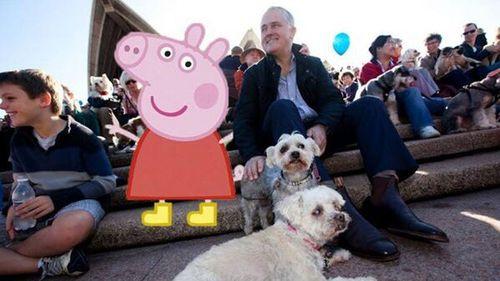 Malcolm Turnbull saves Peppa's bacon