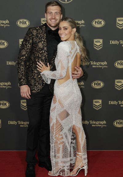 Cameron Munster and Bianca McMahon at the 2019 Dally M Medal