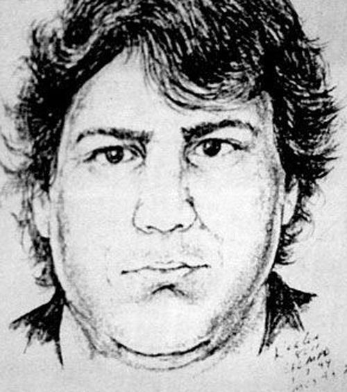A 1993 sketch of the suspect in Angie Housman's murder.
