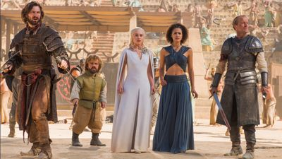 <p>Clarke as Daenerys Targaryen in <em>Game of Thrones</em> season five. She is also known as Khaleesi and the Mother of Dragons on the HBO series. </p><p>(AAP)</p>