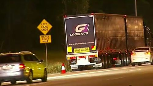 Police said the hatchback hit the back of the truck. (9NEWS)