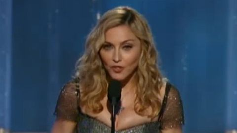 Madonna disses Ricky Gervais at the Golden Globes