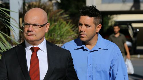 Quentin Dennis (right) arrives at the inquest. Picture: AAP