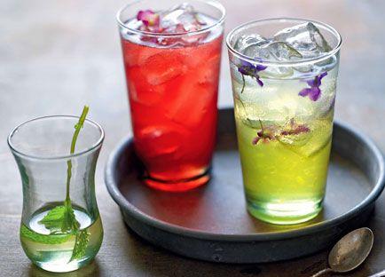Sharbat-e reevas (rhubarb-rosewater sherbet)