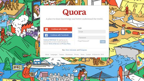 Quora, which allows people to ask questions on any subject, which are then answered by other users, has confirmed account information including names, email addresses and encrypted passwords were compromised