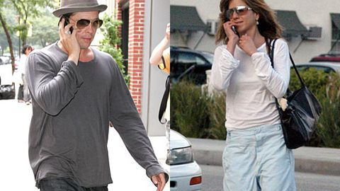 <p>Brad Pitt's been busted for DUI — Dialling Under the Influence!</p>