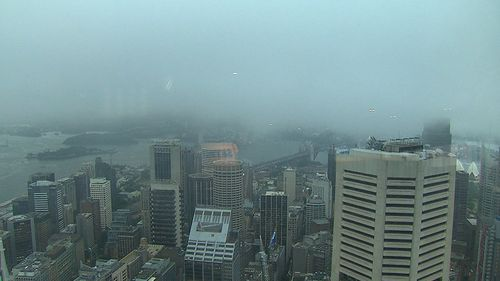 Heavy rain has left Sydney's CBD soaked. (9NEWS)