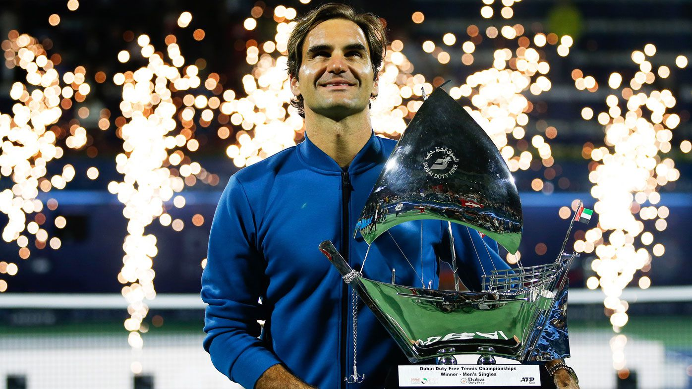Federer wins Dubai Championships, reaches 100 career titles