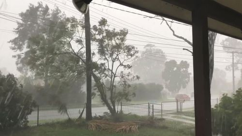 Bad weather strikes Mt Druitt, in Sydney's west.