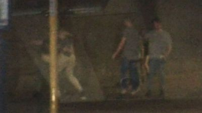 Wild brawls filmed near notorious party strip
