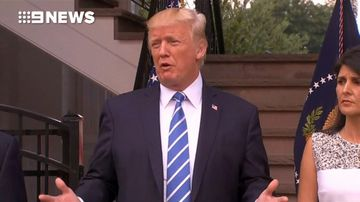 9RAW: Trump says military intervention in Venezuela is 'possible'