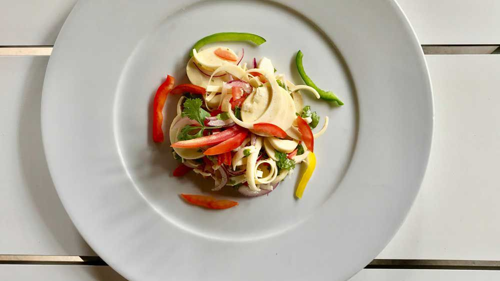 Mauritian palm heart salad