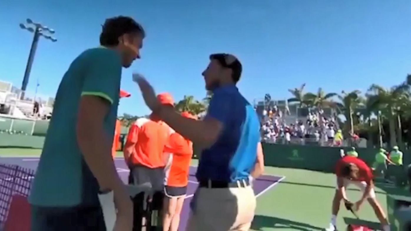 Miami Open: Daniil Medvedev fires up at Stefanos Tsitsipas after words exchanged at net