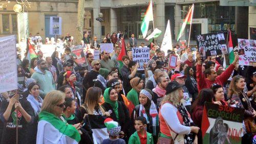 Sydney rally slams Australian government 'silence' on Gaza