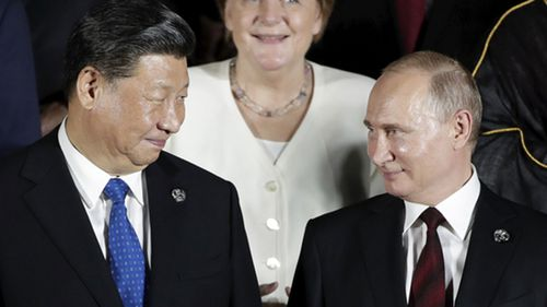 President of China Xi Jinping and President of Russia Vladimir Putin.