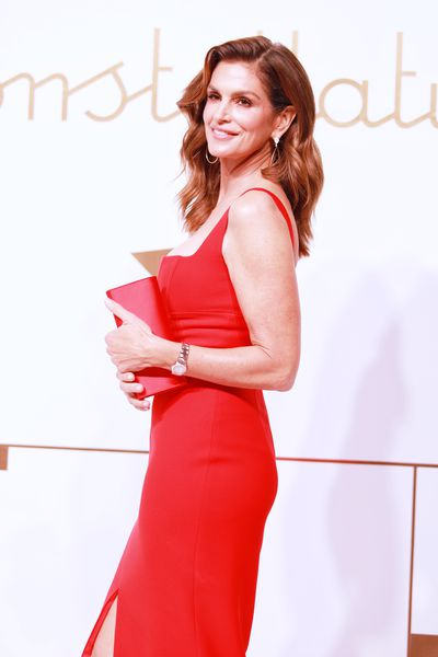 Cindy Crawford attends the Omega 'Constellations' launch event on October 23, 2018 in Shanghai, China.