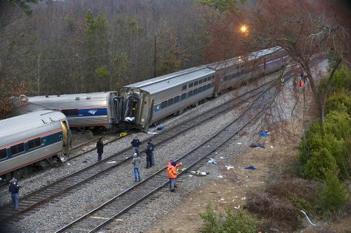 It is the third deadly crash involving Amtrak in less than two months. (AAP)