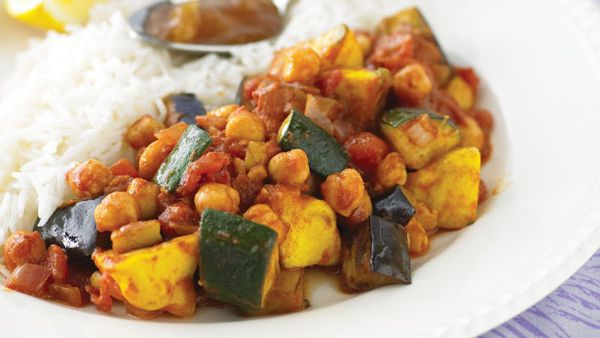 Moroccan chickpeas and vegies