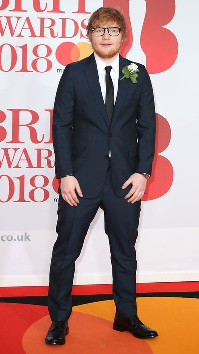 Ed Sheeran at the 2018 Brit Awards
