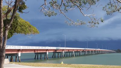 The view from Bribie Island. (Paul Webb)