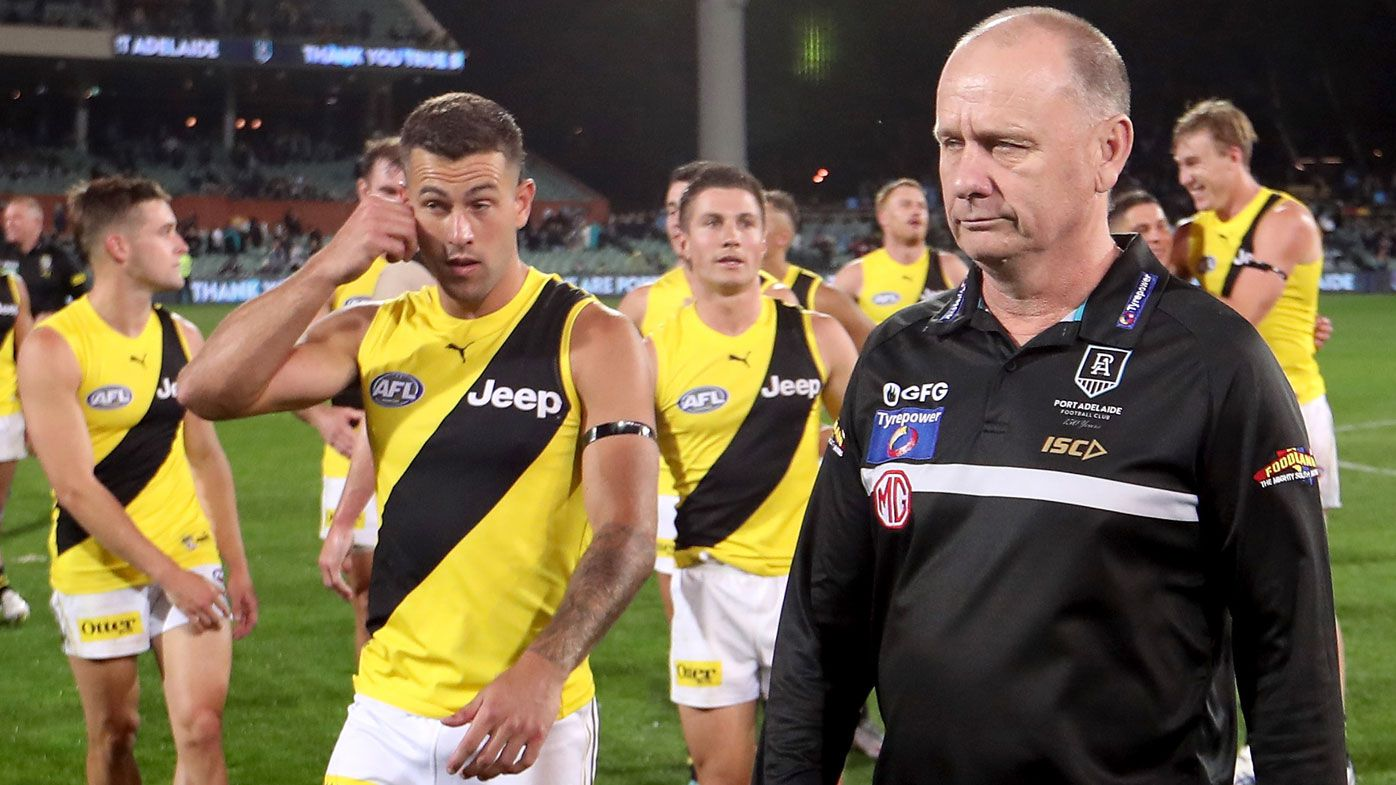 Port Adelaide coach Ken Hinkley baked by Kane Cornes over Dusty prelim final match-up