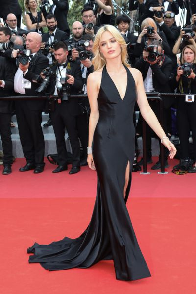 Georgia May Jagger in Twinset with Chopard jewellery at the 2018 Cannes Film Festival