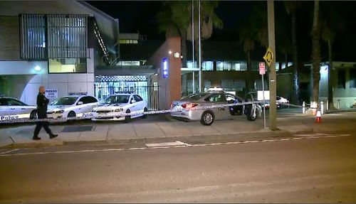 A taxi driver was stabbed in the head in Sydney's inner west last night. Picture: 9NEWS