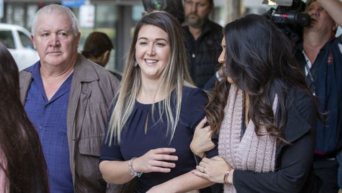 Ayla Cresswell leaves the Supreme Court in Brisbane. Picture: AAP