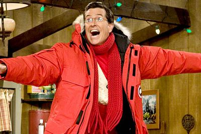 In 2008 Emmy Award-winning host Stephen Colbert launched his very own spoof Christmas special, finding ways to celebrate the holidays with help from his celebrity friends — such as Elvis Costello and <I>The Daily Show</I> host Jon Stewart. After the special aired in the US, Colbert demanded that all his fans buy its soundtrack in an attempt to knock Kanye West from the #1 spot on the iTunes album chart, thereby humbling the rapper (it worked).