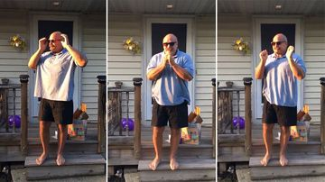 Bodybuilder dad breaks down in tears seeing colour for first time