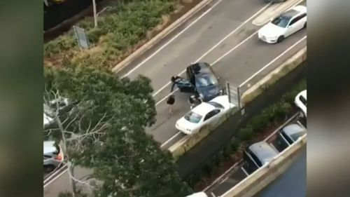 Three people have been charged following a dramatic police pursuit in Melbourne's CBD yesterday. Picture: Supplied.