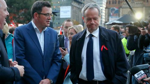 Premier of Victoria Daniel Andrews and Opposition Leader Bill Shorten. (AAP)