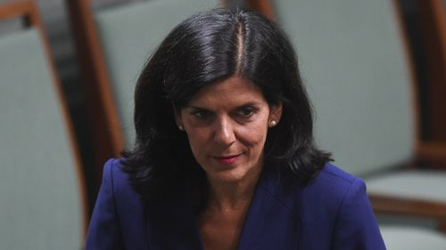 "Julia Banks hit out at the ""reactionary right wing"" of the Liberal Party."