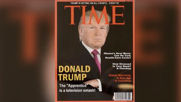 A Washington Post journalist spotted the Time cover during a visit to one of the US president's golf clubs. (Washington Post)