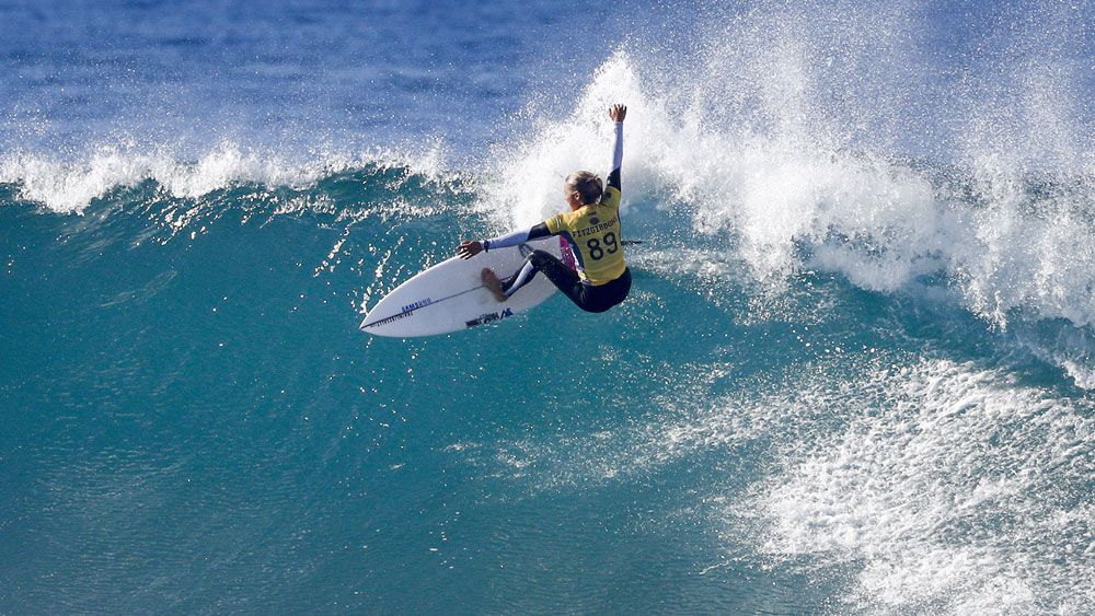 Sally Fitzgibbons has reached the last eight at Bells Beach. (AAP)