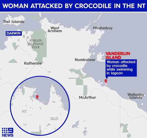 Crocodile attack Vanderlin Island Northern Territory