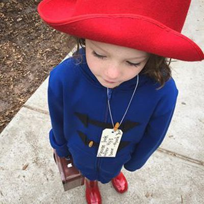 "Paddington Bear needs a blue coat and red hat. Maybe you already have something similar at home? If not - a winter coat like <a href=""https://www.hardtofind.com.au/86557_childrens-duffle-coat-in-navy"" target=""_blank"">this one</a> is a classic. Not just for book week!"