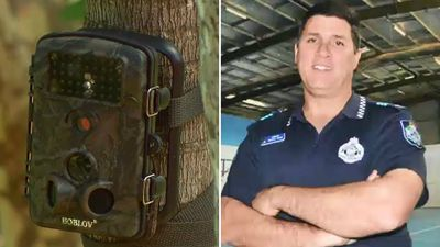 Neighbours claim 'creepy' cop is 'spying on us'