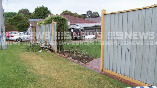 The allegedly stolen ute smashed through a fence and a brick wall of an elderly couple's Rosanna home, landing in the kitchen.
