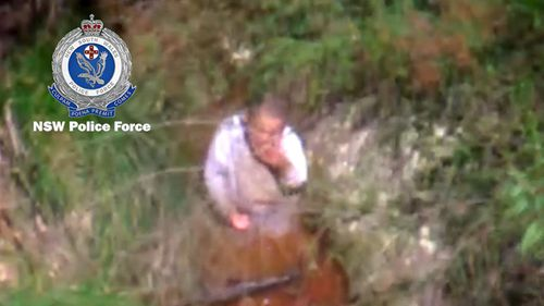 'AJ' was found in a creek on his family's property drinking water from it.