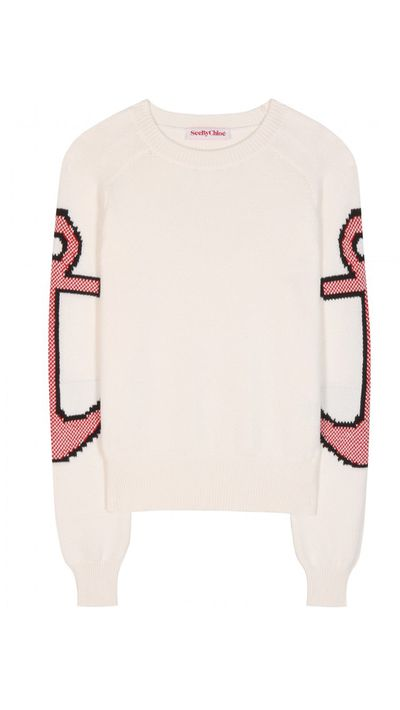 "<a href=""http://www.mytheresa.com/en-au/cotton-sweater-410197.html"" target=""_blank"">Cotton Sweater, $529, See by Chloé</a>"