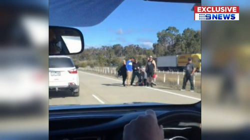 A group of people have carried out a citizen's arrest on the Hume Highway.