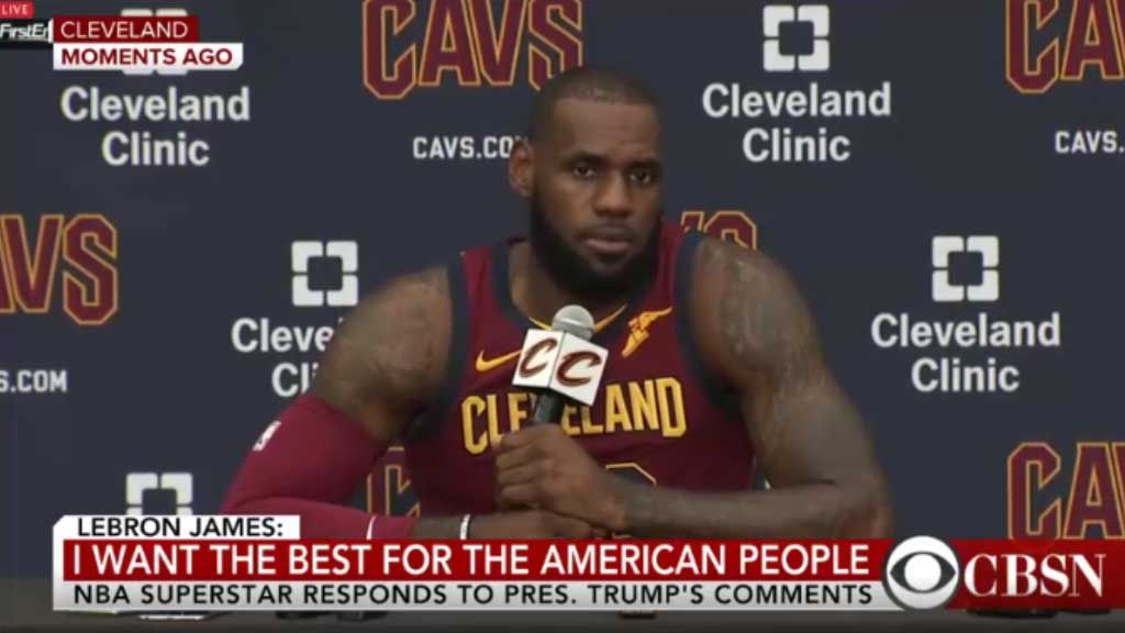 LeBron says Trump using sport to for division
