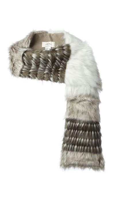 """<a href=""""http://www.farfetch.com/au/shopping/women/Urbancode-faux-fur-stripped-stole-item-10840948.aspx"""" target=""""_blank"""">Faux-Fur Striped Stole, $74.32, Urbancode at farfetch.com</a>"""